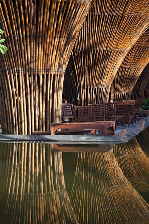 Unique Prefabricated Bamboo Cafe from Vo Trong Nghia Architects