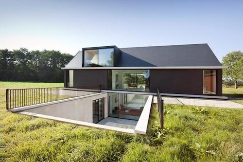 A Most Unusual Design By Dutch Firm Hofman Dujardin Architects Hides Second Storey Bedrooms Completely Below Grade