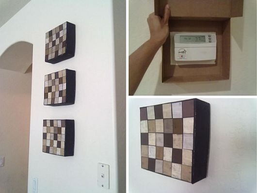 diy wall canvas to hide thermostats how to tips advice