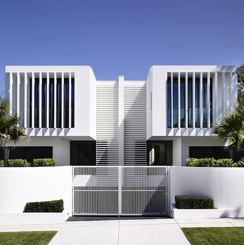 Delicious Symmetry in Mirrored Pair of Australian Townhouses
