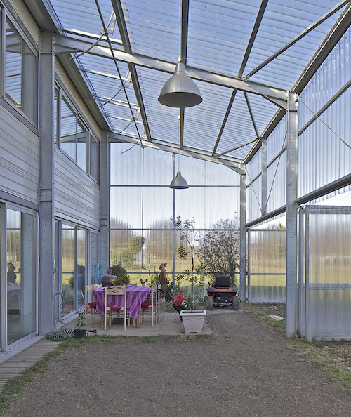 Unique French Greenhouse Home for a Young Family