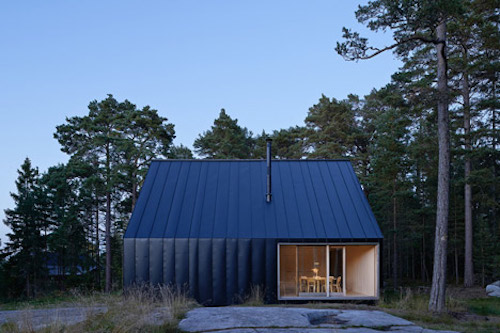 Scandinavian Holiday House as Simple as a Child's Drawing