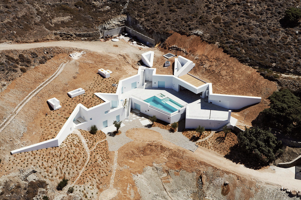 Ancient and Modern Kitma House on the Greek Island of Antiparos