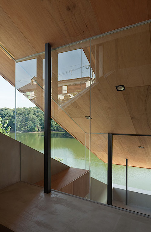 A Very Unusual Home Perches over a Japanese Reservoir