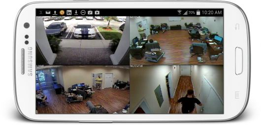 Mobile access to surveillance footage