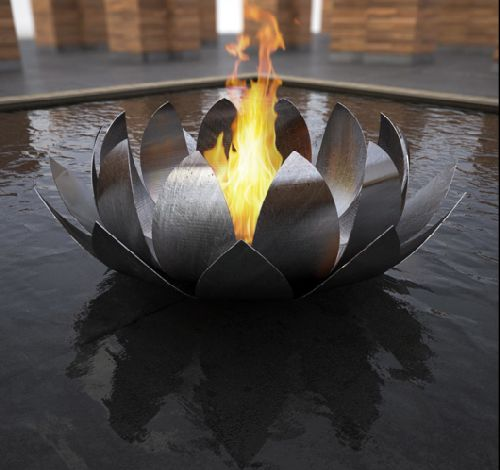 Fire Sculpture Art Home Decor
